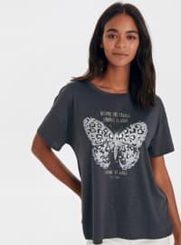 Crew neck - Anthracite - T-Shirt
