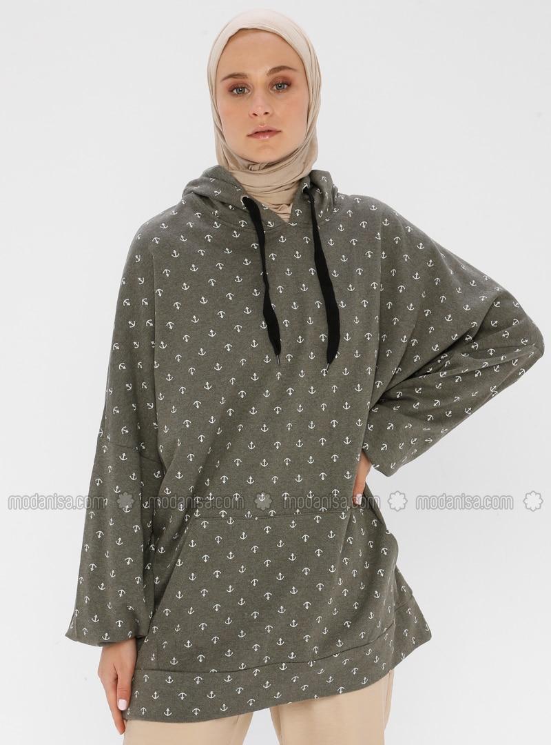 - Khaki - Sweat-shirt