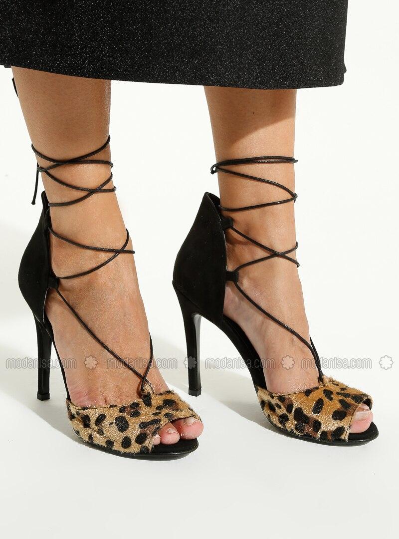 Leopard - Black - High Heel - Heels