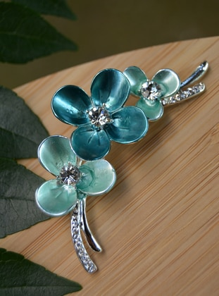 Blue - Brooch