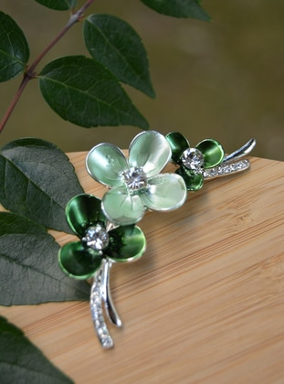 Green - Brooch