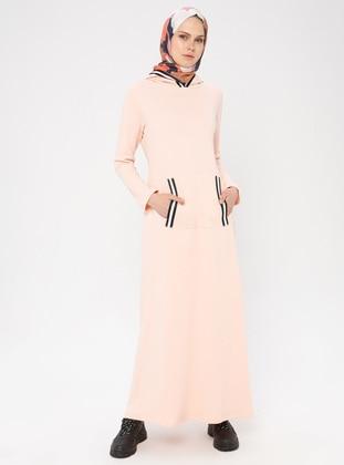 Salmon - Unlined -  - Dress