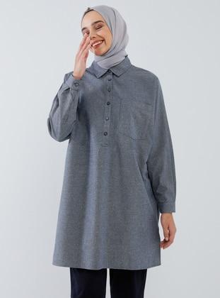Indigo - Point Collar -  - Tunic