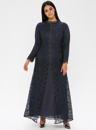 Smoke - Fully Lined - Muslim Evening Dress