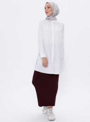 Plum - Unlined -  - Viscose - Skirt
