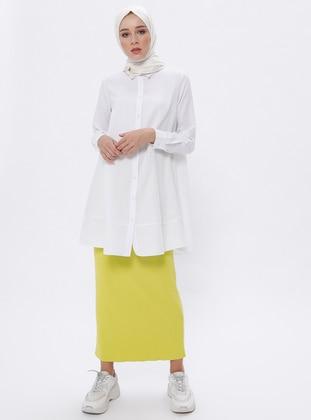 Yellow - Unlined -  - Viscose - Skirt