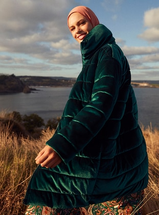 Emerald - Fully Lined - Polo neck - Coat