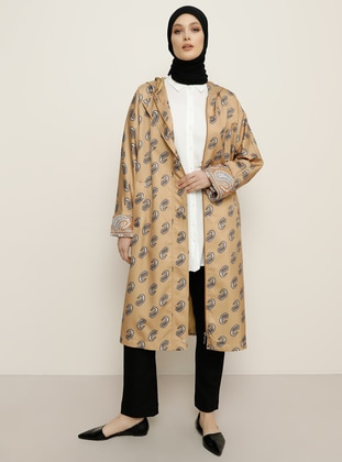 Camel - Multi - Shawl - Fully Lined -  - Trench Coat