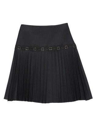 Unlined - Navy Blue - Girls` Skirt