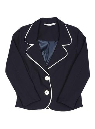 Shawl Collar - Unlined - Navy Blue - Girls` Jacket