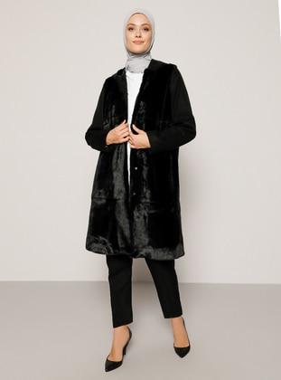 Black - Fully Lined - Acrylic - Coat