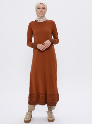 Cinnamon - Crew neck - Unlined -  - Viscose - Dress