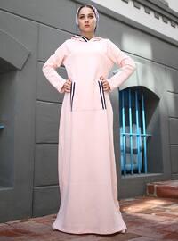 Pink - Stripe - Unlined - Viscose - Dress
