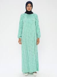 Yeşil - Astarsız kumaş - Namaz kıyafeti