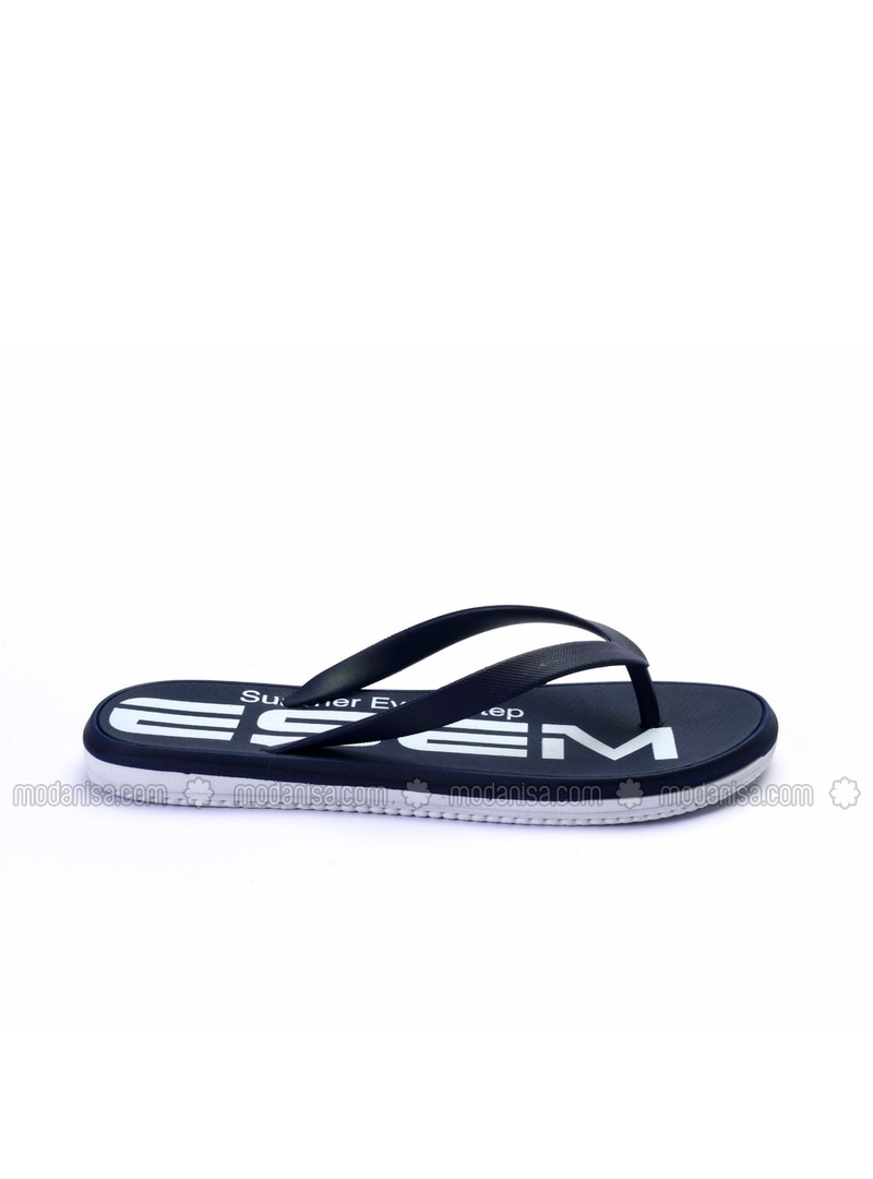 classic styles outlet quality design Navy Blue - Slippers