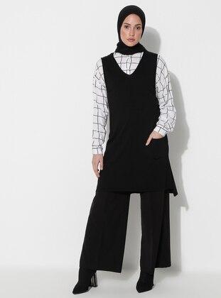 Black - Unlined - Viscose - Dress