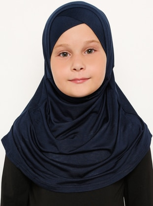 Navy Blue - Simple - Viscose - Bonnet