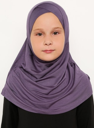 Purple - Plum - Simple - Viscose - Bonnet