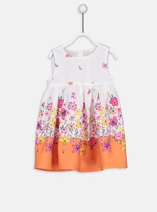 Printed - White - Baby Dress