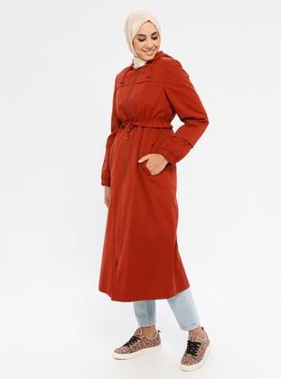 Terra Cotta - Fully Lined -  - Coat