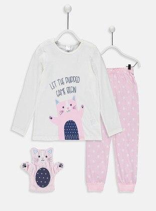 Ecru - Girls` Pyjamas - LC WAIKIKI