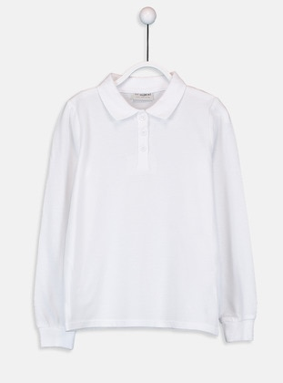White - Girls` T-Shirt - LC WAIKIKI