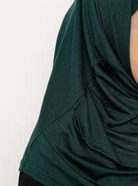 Green - Emerald - Simple - Viscose - Bonnet