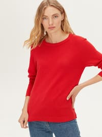 Crew neck - Red - Jumper
