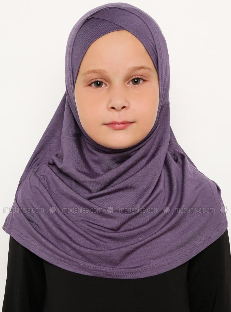 Purple - Plum - Simple - Viscose - Bonnet