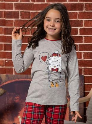 Gray - Kids Pijamas - Elitol Premium