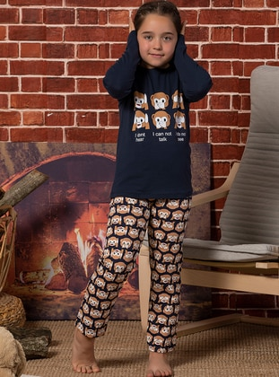 Navy Blue - Kids Pijamas - Elitol Premium