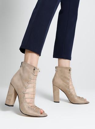 Nude - Casual - Sandal - High Heel - Heels