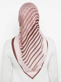 Dusty Rose - Striped - Scarf
