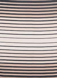 Navy Blue - Powder - Striped - Scarf
