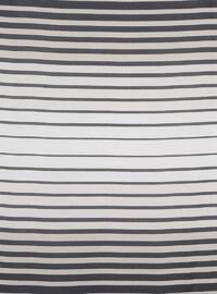Navy Blue - Mink - Striped - Scarf