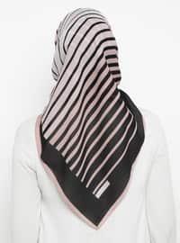 Powder - Black - Striped - Scarf