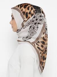 Mink - Printed - Leopard - Scarf