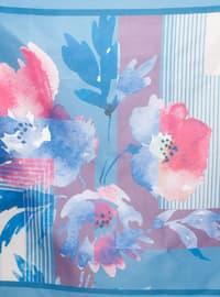 Indigo - Floral - Digital Printing - Scarf