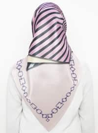 Powder - Striped - Digital Printing - Scarf