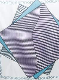 Sea-green - Striped - Digital Printing - Scarf