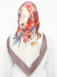 Mink - Floral - Digital Printing - Scarf