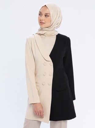 Black - Mink - Shawl Collar - Jacket