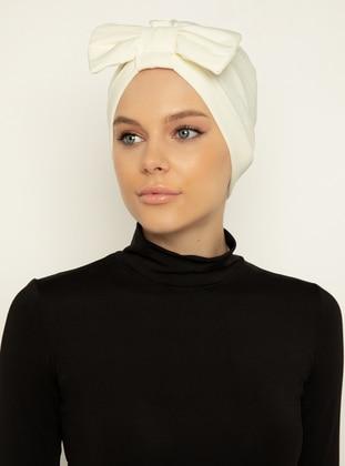 White - Cream - Instant Scarf