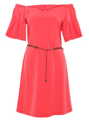 Coral - Boat neck - Unlined - Dress