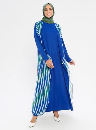 Blue - Saxe - Stripe - Unlined - Suit