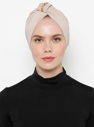 Beige - Simple - Bonnet