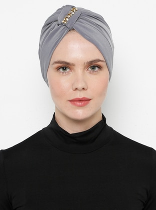 Gray - Simple - Bonnet