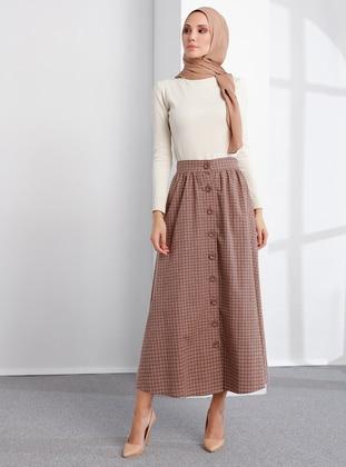 Mink - Checkered - Unlined -  - Skirt
