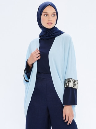 Baby Blue - Unlined - Shawl Collar - Jacket