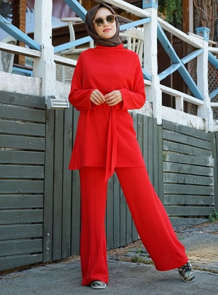 Red - Unlined - Suit